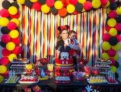 Happy Birthday B, 2 Birthday, Mickey 1st Birthdays, Mickey Mouse First Birthday, Mickey Mouse Baby Shower, Mickey Mouse Clubhouse Birthday Party, 1st Birthday Parties, Birthday Ideas, Mickey Mouse Birthday Decorations