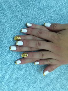 White and GOLD GLITTER ✨