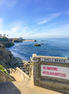 The entrance to Shell Beach, one of the best La Jolla beaches for tide pools and shells. A fun little detour on a San Diego, California vacation.