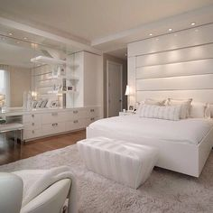 Decoración dormitorio en blanco