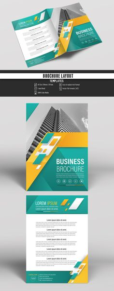 Flyer - Brochure Layout - with Cyan and Gray Accents 1 - Flyer - booklet template