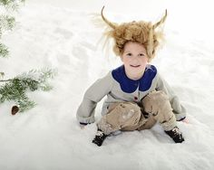www.frostedproductions.com l #utah #photographer #studio #photography #beautiful #little #girl #playing #in #the #snow #antlers #amazing #hair #ideas #winter #pine #trees