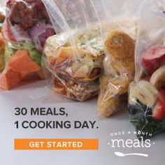 The BEST collection of healthy freezer meals. These make ahead dinner ideas are simple, yet delicious. Freezer cooking instructions in every recipe! Make Ahead Freezer Meals, Freezer Cooking, Frugal Meals, Frugal Recipes, Freezer Recipes, Budget Meals, Real Food Recipes, Cooking Recipes, Healthy Recipes