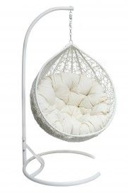 *PRE-ORDER White Eclipse Hanging Egg Chair & Stand