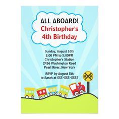 420 best train birthday party invitations images in 2018 trains