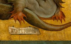 Juan de Flandes - San Miguel y San francisco   Detail