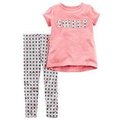 Carter's Newborn, Infant & Toddler Girls' T-Shirt & Leggings - Sweet