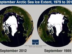 Video shows the increase of Arctic ice melt over the last 33 years.