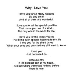 Why I Love You. I love You for YOU! favorite-quotes 💙 I love you so much! Reasons Why I Love You, Love You More, Just For You, My Love, The Words, Boyfriend Quotes, I Love You Quotes For Him Boyfriend, Girlfriend Quotes, I Love You Quotes For Him Funny