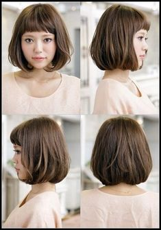 When It comes to Bob hairstyles, you must try some different style for it. Most of the celebs are styling Bob Hairstyles With Fringe, and they love it for long. Popular Short Hairstyles, 2015 Hairstyles, Short Bob Hairstyles, Hairstyles With Bangs, Asian Hairstyles, Japanese Hairstyles, Popular Haircuts, Quick Hairstyles, Japanese Short Hairstyle