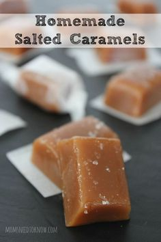 Sweet and salty come together with these easy to make salted caramels. Perfect for a little sweet snack or as a great addition to a cookie tray!