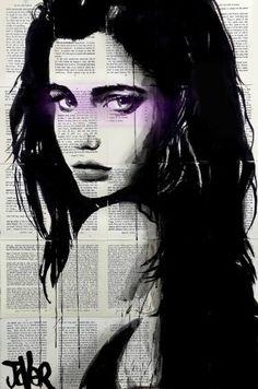 """//Saatchi Art Artist Loui Jover  """"kalahari"""" #art #drawing #face"""