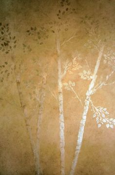 Pictured are raised plaster Life-sized Aspen trees in our home in Idaho along with those done by our very creative customers! I was so impressed with my 10 feet tall version (which turned out absolutely incredible!), that I also did a 25 foot version that spans nearly two floors then painted it gold. Wow! What a sight to see! As easy to construct as any other tree design, start by plastering the trunk with joint compound, repeat it upward, add the trunk top, add side branches, little…