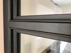 Metal Window Frames, Steel Doors And Windows, Glass Office, Steel Detail, Door Design Interior, Industrial Living, Steel Wall, Entrance Doors, Architecture Details