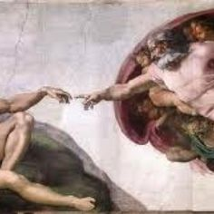 The Creation of Adam by Michaelangelo. Painted on the ceiling of the Sistine Chapel of the Vatican, Rome, Italy.