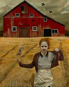 """Magic Realism Painter Andrea Kowch: Interviewed in Combustus magazine """"What the Wind Blew"""""""