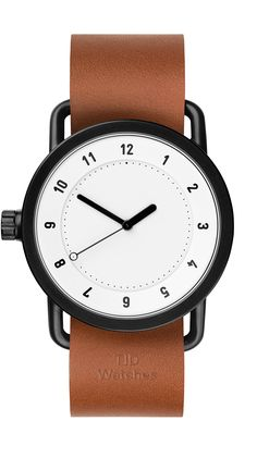 1b58fe518d615 1 Watch - White   Tan Leather Watch - Form Us With Love