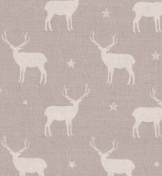 Stag All Star Linen by Peony & Sage in Truffle.