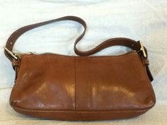 COACH - Authentic Coach Camel Brown Leather Bag