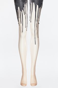 Look at these melting tights! I only wish there was black ice cream in my life…
