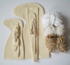 DIY Blank Doll Unicorn UNSTUFFED BODY for by MadeByMiculinko