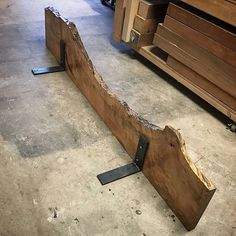 Maple live edge shelf / mantel by Bolt Woodworks Live Edge Furniture, Rustic Furniture, Diy Furniture, Modern Furniture, Custom Woodworking, Woodworking Plans, Woodworking Projects, Woodworking Furniture, Woodworking Jointer