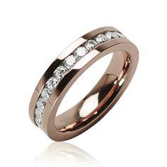 Day 6: 6 Wedding Worthy Items: $10 Starting Bid: Stainless Steel Eternity Ring - CZ inlay