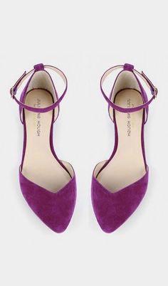 0b587c8326 Sapato - Sapatilha - Flat - Suede - Camurça - violeta
