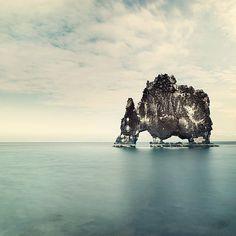 SALE Minimal Landscape Photography – Iceland Rock Formation – Hvitserkur