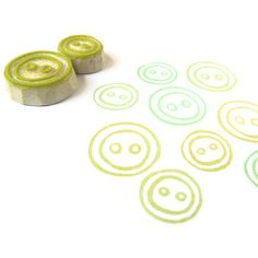 Button Up Stamp Set - Rubber Stamp Set - Cling Rubber Stamps. $9.00, via Etsy.