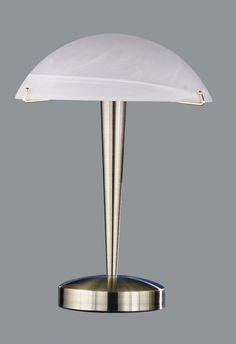 5925 - stolová dotyková lampa - antická mosadz