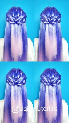 Visit blog.digung.com to get around hairstyle tips, nail art and a variety of needs for a healthy body #Hairstyle #Haircare #Nailart #naildesign #diy Easy Hairstyles For Long Hair, Pixie Hairstyles, Cute Hairstyles, Wedding Hairstyles, Hair Art, Your Hair, Curly Hair Styles, Video, Simple