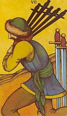 Morgan Greer Tarot: seven of swords