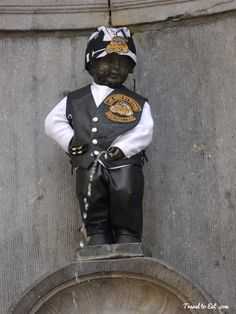 Manneken Pis in Harley-Davidson Dress, Brussels