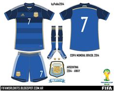 77e0a78528834 Argentina away kit for the 2014 World Cup Finals.