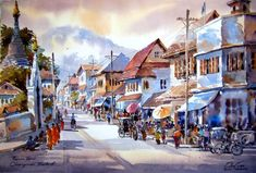 market-watercolor-painting | Haimchar
