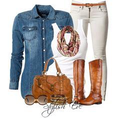 """Noha"" by stylisheve on Polyvore. I'm thinking of adding skinny khakis to my list."