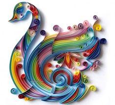 swan-quilling-art (110 pieces)