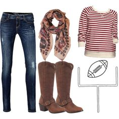 """Football Game"" by flirtwithdurango on Polyvore"