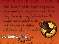 The love that peeta and katniss have for each other is unbelievable. Wish stuff like that existed In real life:)