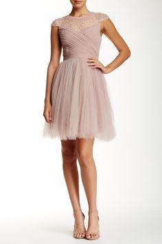 Beaded Mesh Bodice Dress by Little Mistress on @HauteLook