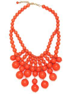 Bauble Bar Tangelo Bib Necklace