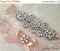 20% OFF EXCLUSIVE Lace Garter Set Wedding Garter by GarterQueen