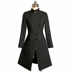 Fashion Long Sleeve Knee-length Black Punk Lolita Dress