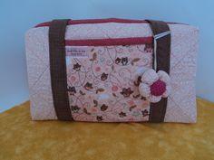 Bolsa rosa Flor de poá