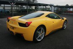 Marvellous Yellow Ferrari 458 Italia