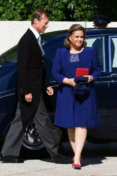 Grand Duke Henri and Grand Duchess Maria-Teresa arrive at the Grand Theatre National Day of Luxemburg in Luxembourg, 23 June 2014.