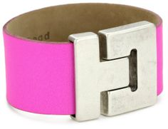 Streets Ahead Silver Antique Closures with Pink Wide Clean Cuff Bracelet: Jewelry
