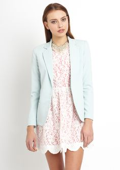 ARK & CO. Slip Pocket Blazer. Yes please — I'm all about cool pastels.