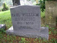 "Celebrity Headstone-Paul Henning Created ""The Beverly Hillbillies"""
